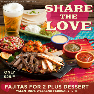 Abuelo's Valentines Fajitas For Two